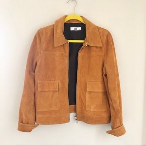 Mustard Tan Suede Leather Jacket Redone by HIDE